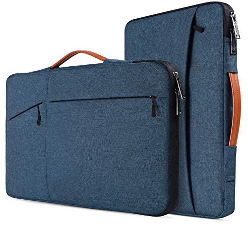 Laptop-Tasche für MacBook Air 13 A1932, MacBook Pro 13 2018/2017, Surface Pro 6/5/4, Dell XPS 13, Google Pixelbook 12.3, 360 schützende Notebook-Tasche. marineblau 15.6 Inch