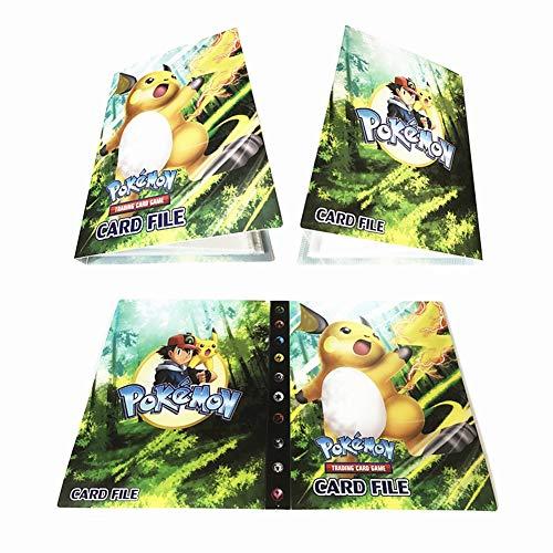 Dorara Pokemon Karten Halter Album Ordner Buch 30 Seiten 240 Karten Kapazität (Raichu)