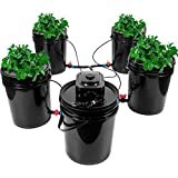 Bavnnro Dwc Hydroponic System,Multi Barrel Hydroponic Machine,Drip Irrigation Hydroponic System(4 Bucket + Reservoir Kit)