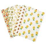 RONGROG 5Pcs 25x20cm Floral Cotton Fabric DIY Face Cover Supplies Bundle Patchwork Quilting Sewing Patchwork Cushions Cotton Fabric for Patchwork (D)