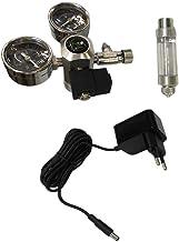 Amuzocity Regulador De CO2 De Aleación De Aluminio Con Pantalla Doble