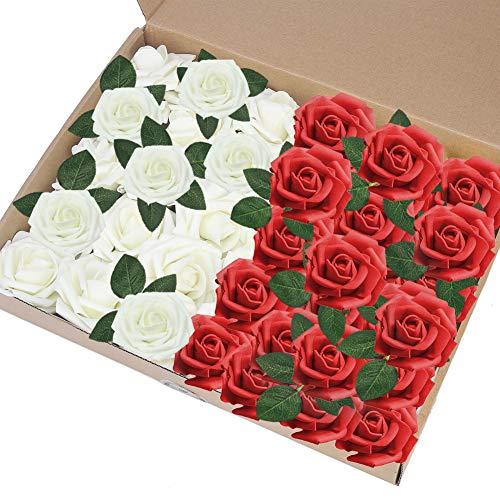 Künstliche Echte Latex Touch 20 stücke Rose Blumenstrauß Hochzeit Decor