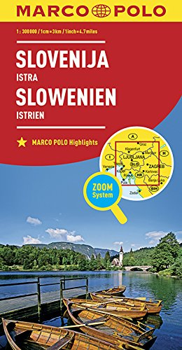 Marco Polo Slovenië, Istrië: Wegenkaart 1:300 000