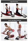 Rowing Machines Trainingsgeräte Rudergerät Trac Glider 12 Widerstandseinstellung mit LCD-Display 330 LB Gewicht Kapazität Faltbare for Home Gym - 4