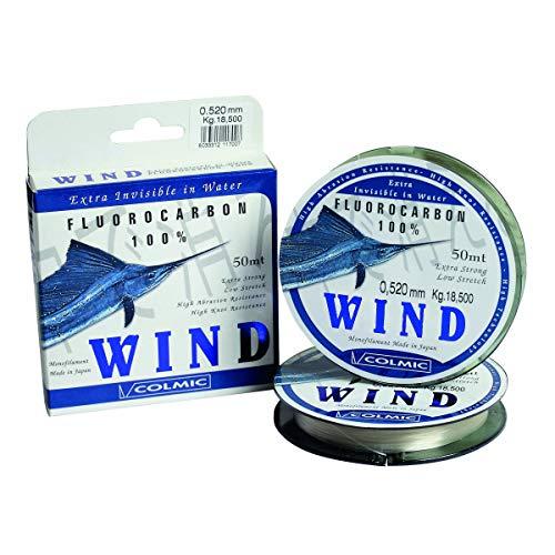Colmic Hilos de Pesca Wind 50 m 0.710 mm 29 kg Fluorocarbono Spinning Surfcasting Boloñesa