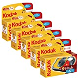 KODAK Fun Flash caméra à Usage Unique - 39 5 Pack exposures