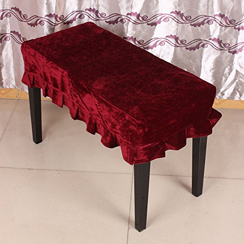 Best Buy! Andoer Universal Piano Stool Chair Bench Cover Pleuche Decorated with Macrame 75 35cm for ...
