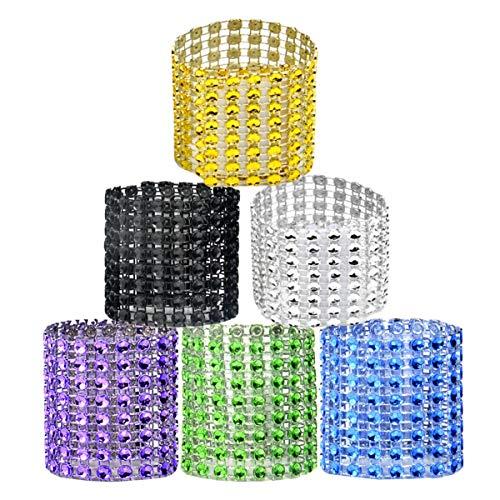 Liuer 60PCS servilleteros de aro de servilleta para servilletas de Tela y Papel Servilletas de Tela para Boda Fiesta