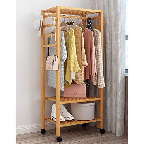 TGBYHN Coat Rack, Bamboe kapstok, staande hanger | met opbergfunctie (168 * 60 * 42cm) kleding, hoed, tas, paraplu, schoenenrek