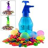 K7plus® Wasserbomben Pumpe mit 200 Wasserballons – Einfüllhilfe für Wasserbomben – 1,5 Liter Inhalt -