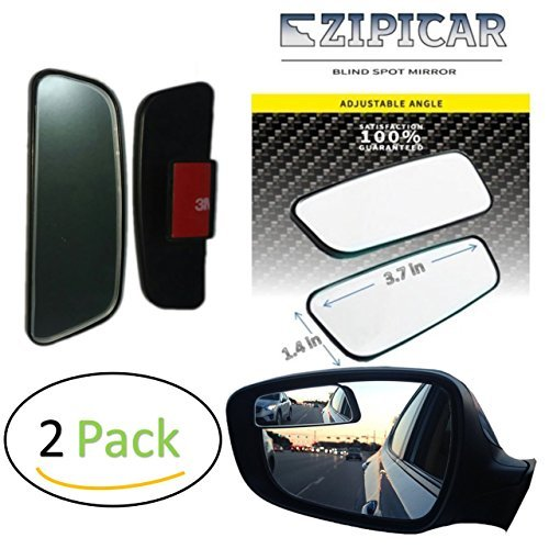 Blind Spot Mirrors - Car Door Mirror for Blind Side - Change lanes and merge highways safely - best rear view [adjustable & stick-on] (2 pack, left and right)