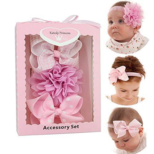 Amazon.com  3pcs Baby Girl Headbands With Flower 480d342bcd62