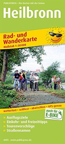 Heilbronn: Rad- und Wanderkarte mit Ausflugszielen, Einkehr- & Freizeittipps, Straßennamen, wetterfest, reißfest, abwischbar, GPS-genau. 1:50000 (Rad- und Wanderkarte: RuWK)