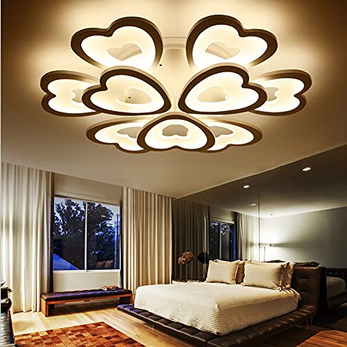 N/Z Home Equipment LED Ceiling Light Chandelier Simple Modern Creative Love Living Room Ceiling Lamp Atmosphere Bedroom Dining Room Light Dimming 12heads