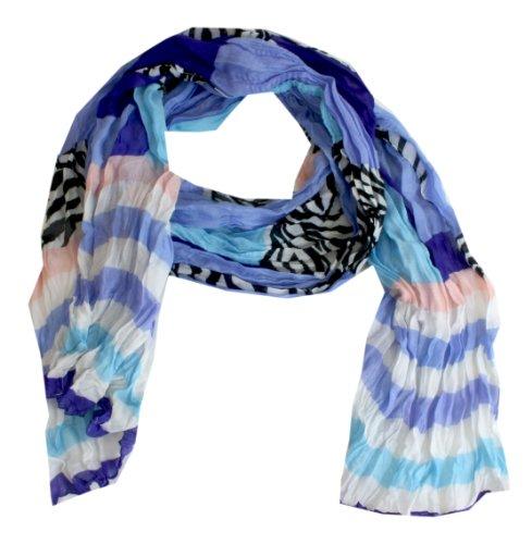 Taschentrend ColourZeb - Karo Zebra Streifen Schal buntes Tuch Frühjahr-Sommer 175 x 50 cm