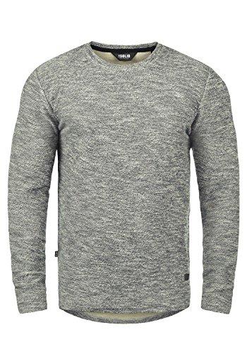 !Solid Gulliver Herren Sweatshirt Pullover Pulli Mit Rundhalsausschnitt Aus 100% Baumwolle, Größe:L, Farbe:Insignia Blue Melange (8991)