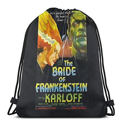 Copy of Bride of Frankenstein Sport Sackpack Drawstring Backpack Gym Bag Sack