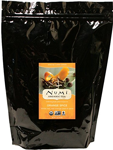 Numi Organic Tea Orange Spice 16 Ounce Pouch Loose Leaf White Tea Packaging May Vary