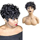 Pixie Cut Wigs For Black Women 100% Human Hair Wigs Brazilian Hair Wigs Full Machine Made Afro Kinky Curly Wigs Short Pixie Hairstyles