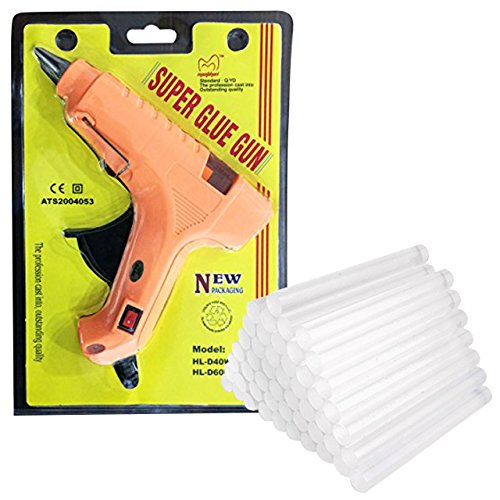 Manbhari 40 W Hot Melt Glue Gun with Glue Sticks ,40 Pieces
