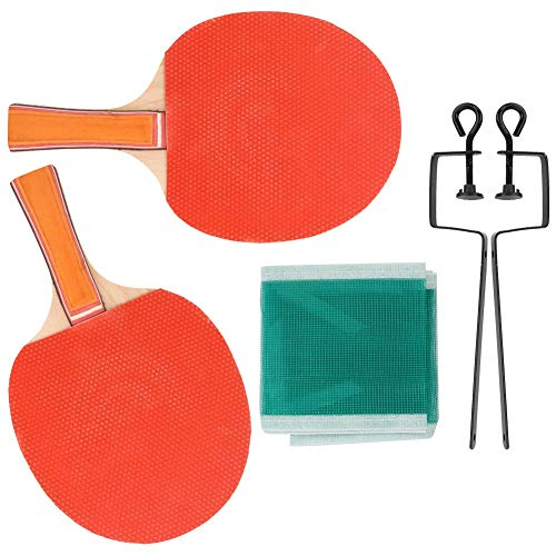 【2021 Promoción de año nuevo】Juego de Tenis de Mesa, Raqueta de Tenis de Mesa, método de Juego versátil Material de Madera Que Absorbe el Sudor para Que Adultos y niños practiquen y jueguen(Table Tenn