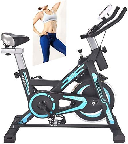 LAMTON Heimtrainer, Heimtrainer, Home Fitness-Maschine mit Kalorienzähler, einstellbarem Widerstand, Einstellbarer Höhe, 6KG Flywheel, Geeignet for Home Fitness (Farbe : Blau)