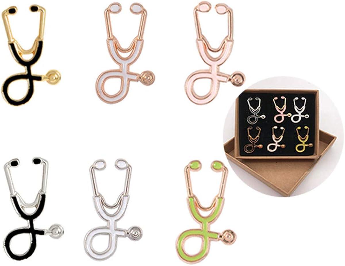 Great interest Joya Gift 6PCS Fashion Cartoon Brooches Elegant Stethoscope Nurse Doctor