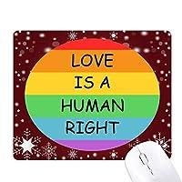 ゲイ・レズビアンの虹の旗のイラスト オフィス用雪ゴムマウスパッド