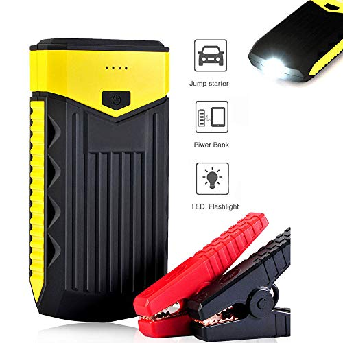 Great Deal! HYM Car Jump Starter - Portable Multifunction 12V Battery Booster with Dual USB Port and...