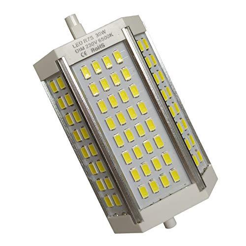 R7s LED 118mm 30w Led Regulable. Color Blanco Neutro (4500K). 3000 Lumenes. Sin ventilador. A++