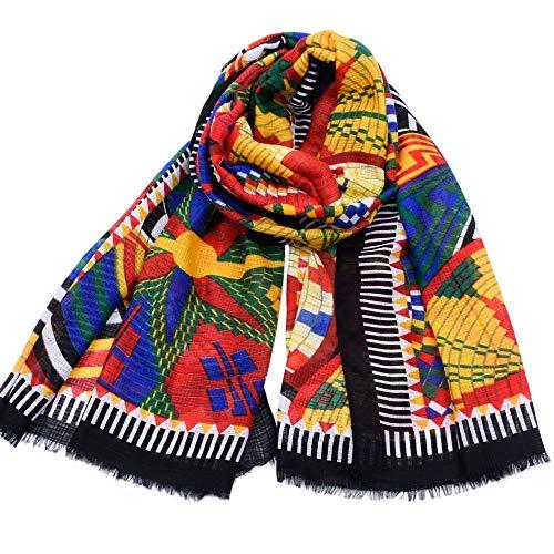 No-Branded L.W.SURL Bufandas de Invierno for Mujer Cozy Wrap Warm Cashmere Feel Scarf for Festival (Color : Multi-Colored, Size : OneSize)