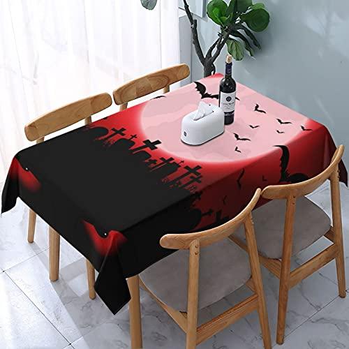 Mantel rectangular con diseño de pesadilla antes de Navidad, para exteriores, jardín, fiesta, cocina, barbacoa, 137 x 183 cm (6-8 asientos)
