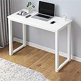 Mesa de escritorio resistente y resistente, para oficina, hogar, estudio, con patas de metal grueso, moderno, estilo industrial, para PC, 80 x 40 cm, 120 x 40 cm