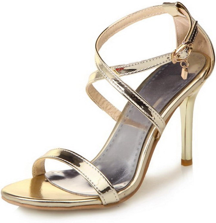 AN Womens Huarache High-Heels Baguette-Style Urethane Sandals DIU00763