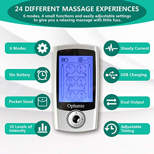Ophanie Digital TENS Unit with Accessories