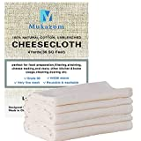 Unbleached Cheesecloth, Grade 90, 36 Sq Feet, 100% Cotton Cheese Cloth, Ultra Fine Reusable Cheesecloth for Straining, Cooking, Strainer, Food Filter (4 Yards)