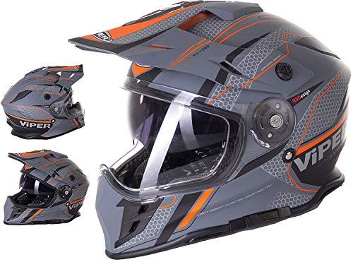 VIPER RIDER Casco de carreras todoterreno RX-V288 VENTURA MOTOCROSS TRIAL ATV QUAD...