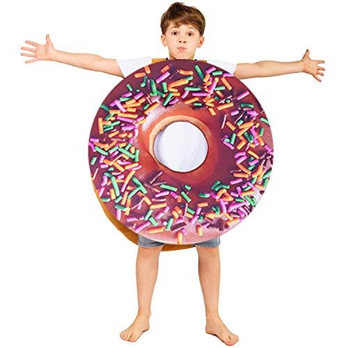 Kids Donut Jumpsuit Cute Party Costume Unisex (Dark Color)