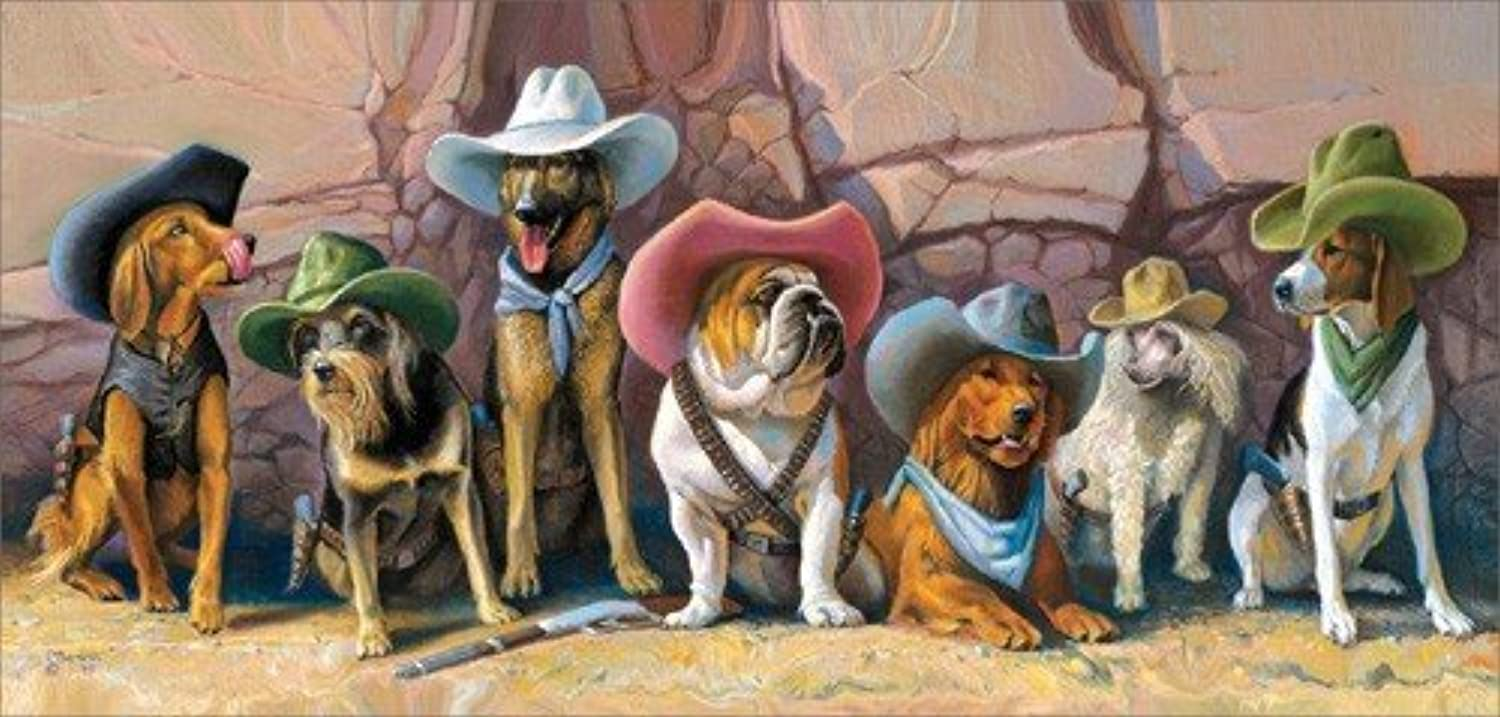 The Magnificent Seven 1000pc Jigsaw Puzzle by Bryan Moon