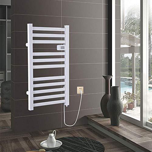YAeele Elektrische Handtuchwärmer, mit Thermostat rechten Seite der Wand befestigter fest verdrahteten Handtuchwärmer Compatible with Badezimmer weiß