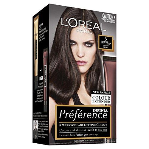 L'Oréal Paris Préférence Permanent Hair Colour - 3 Brasilia (Intense, Fade-Defying Colour)