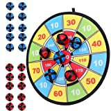 Kids Dart Board Game with 20 Balls Using Hook-and-Loop Fasteners | 11.8 Inches (30 cm) Diameter | Classic...