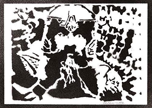 Poster Gimli Il Signore degli Anelli The Lord of the Rings Handmade Graffiti Street Art - Artwork