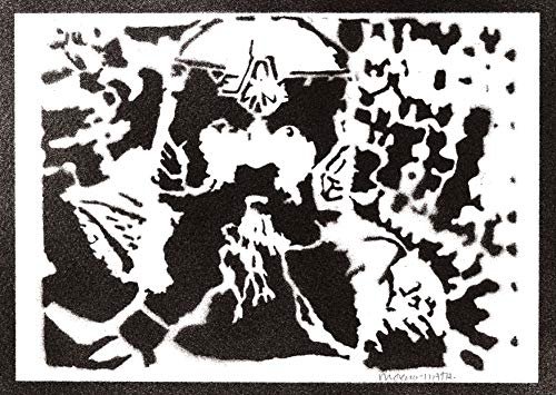 Poster Gimli El Seor de los Anillos Grafiti Hecho a Mano The Lord of the Rings Handmade Street Art - Artwork