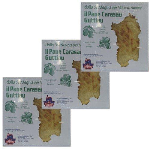 3x Mago Merlini 'il Pane Carasau Guttiau', Sardisches Brot, 250g