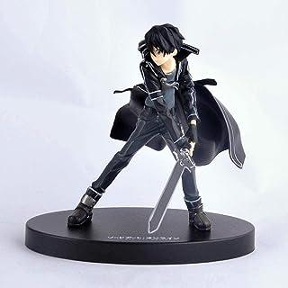 LF-YGJ Statue Anime 16cm Anime Sword Art Online Kirito Kirigaya Kazuto Yuuki Asuna Fighting.PVC Action Figure modèle Joue...