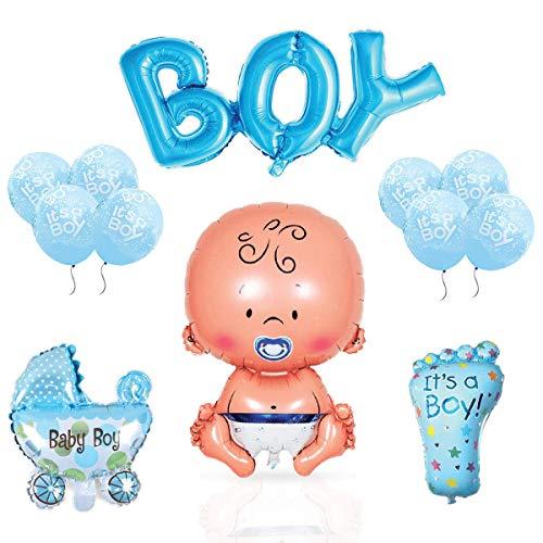Layal Design Baby Shower Deko Set - Für eine Its a Boy Junge Babyparty (10 Teilig)