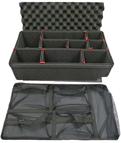 TrekPak Divider System for The Pelican 1535 case Includes 1 Red Handle /& 2 Red latches.