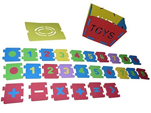 Seruna A134 Kinder-Spielzeug Set, Spiele-Box Moosgummi Zahlen Geschenk-Idee Mädchen u. Jung-s Weihnacht-en Geburtstag Geburtstags-Geschenk