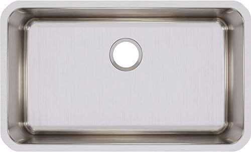 2021 Elkay ELUH281610 online Lustertone new arrival Classic Single Bowl Undermount Stainless Steel Sink outlet online sale